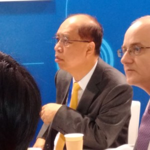 Mr Stanley Chu, president of Chinaplas, attending the Haitian press conference