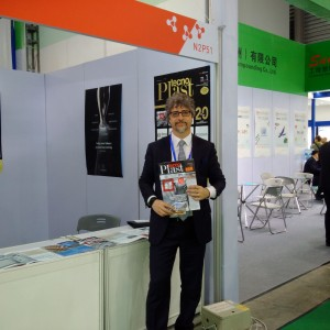 Marco Mastrosanti, publisher of Tecnoplast, at our booth