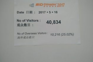 40.834 visitors for the first day of Chinaplas 2017