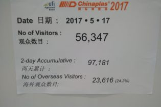 Chinaplas day 2: 56.347 visitors. Look at our photogallery!