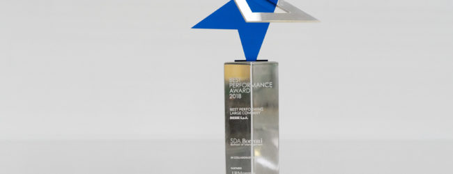 SDA Bocconi gives Biesse Group an award at Best Performance Award 2018