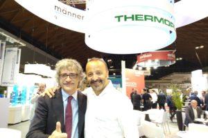 Marco Mastrosanti di Tecnoedizioni with Davide Albertazzi di Thermoplay