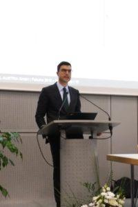 Stefan Engleder helding his speech at Fakuma 2018