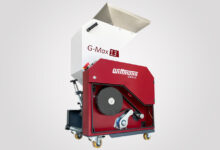 """Belt drive with automatic tensioning system:  WITTMANN G-Max granulators  are """"always under tension"""""""
